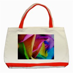 Rainbow Roses 16 Classic Tote Bag (Red)
