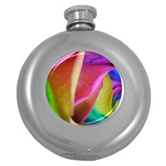 Rainbow Roses 16 Hip Flask (round)