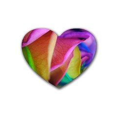 Rainbow Roses 16 Drink Coasters 4 Pack (Heart)