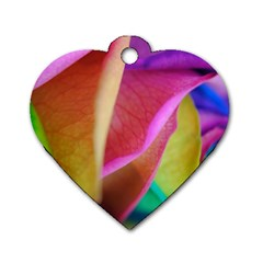 Rainbow Roses 16 Dog Tag Heart (Two Sided)
