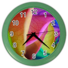Rainbow Roses 16 Wall Clock (Color)
