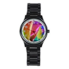 Rainbow Roses 16 Sport Metal Watch (black)