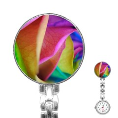 Rainbow Roses 16 Stainless Steel Nurses Watch