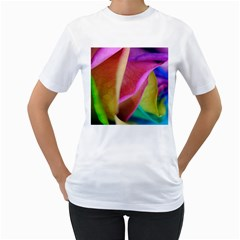 Rainbow Roses 16 Women s T-Shirt (White)