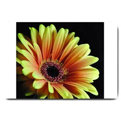 Yellow Orange Gerbera Daisy Large Door Mat