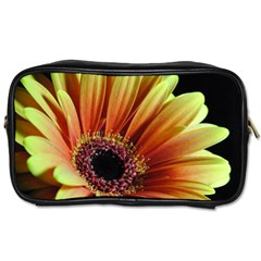 Yellow Orange Gerbera Daisy Travel Toiletry Bag (two Sides)