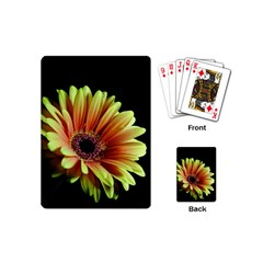 Yellow Orange Gerbera Daisy Playing Cards (mini)
