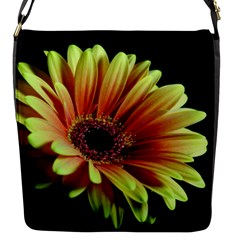Yellow Orange Gerbera Daisy Flap Closure Messenger Bag (small)