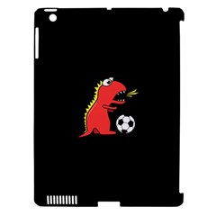 Black Cartoon Dinosaur Soccer Apple Ipad 3/4 Hardshell Case (compatible With Smart Cover)