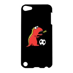 Black Cartoon Dinosaur Soccer Apple Ipod Touch 5 Hardshell Case