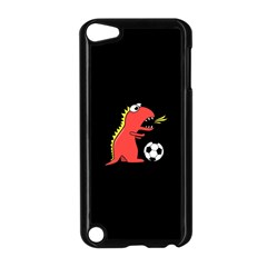 Black Cartoon Dinosaur Soccer Apple iPod Touch 5 Case (Black)
