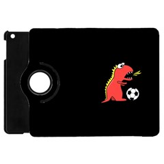 Black Cartoon Dinosaur Soccer Apple Ipad Mini Flip 360 Case