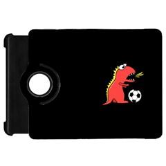 Black Cartoon Dinosaur Soccer Kindle Fire HD 7  (1st Gen) Flip 360 Case
