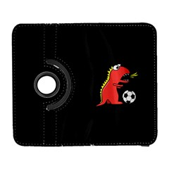 Black Cartoon Dinosaur Soccer Samsung Galaxy S  Iii Flip 360 Case
