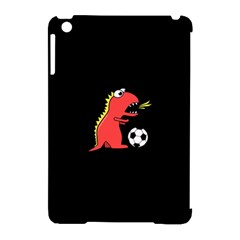 Black Cartoon Dinosaur Soccer Apple Ipad Mini Hardshell Case (compatible With Smart Cover)