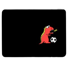 Black Cartoon Dinosaur Soccer Samsung Galaxy Tab 7  P1000 Flip Case