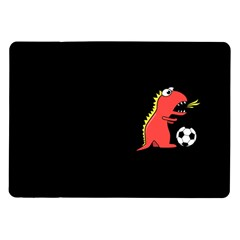 Black Cartoon Dinosaur Soccer Samsung Galaxy Tab 10 1  P7500 Flip Case