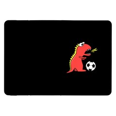Black Cartoon Dinosaur Soccer Samsung Galaxy Tab 8.9  P7300 Flip Case