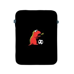 Black Cartoon Dinosaur Soccer Apple Ipad Protective Sleeve