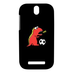 Black Cartoon Dinosaur Soccer HTC One SV Hardshell Case