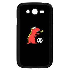 Black Cartoon Dinosaur Soccer Samsung Galaxy Grand Duos I9082 Case (black)