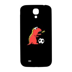 Black Cartoon Dinosaur Soccer Samsung Galaxy S4 I9500/i9505  Hardshell Back Case