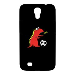 Black Cartoon Dinosaur Soccer Samsung Galaxy Mega 6 3  I9200 Hardshell Case