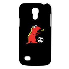 Black Cartoon Dinosaur Soccer Samsung Galaxy S4 Mini (gt I9190) Hardshell Case