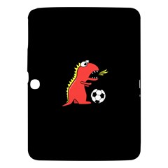 Black Cartoon Dinosaur Soccer Samsung Galaxy Tab 3 (10 1 ) P5200 Hardshell Case