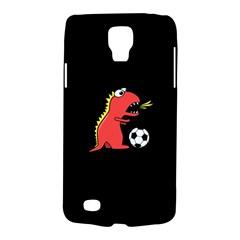 Black Cartoon Dinosaur Soccer Samsung Galaxy S4 Active (i9295) Hardshell Case