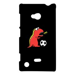 Black Cartoon Dinosaur Soccer Nokia Lumia 720 Hardshell Case