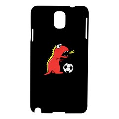 Black Cartoon Dinosaur Soccer Samsung Galaxy Note 3 N9005 Hardshell Case