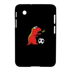 Black Cartoon Dinosaur Soccer Samsung Galaxy Tab 2 (7 ) P3100 Hardshell Case