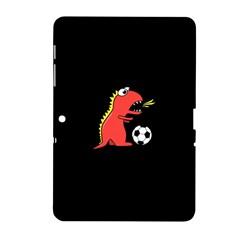 Black Cartoon Dinosaur Soccer Samsung Galaxy Tab 2 (10.1 ) P5100 Hardshell Case
