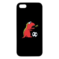Black Cartoon Dinosaur Soccer Iphone 5s Premium Hardshell Case