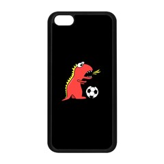 Black Cartoon Dinosaur Soccer Apple Iphone 5c Seamless Case (black)