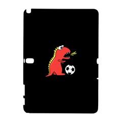 Black Cartoon Dinosaur Soccer Samsung Galaxy Note 10 1 (p600) Hardshell Case