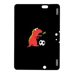 Black Cartoon Dinosaur Soccer Kindle Fire Hdx 8 9  Hardshell Case