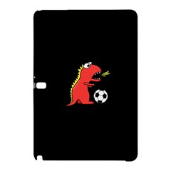 Black Cartoon Dinosaur Soccer Samsung Galaxy Tab Pro 10 1 Hardshell Case