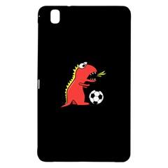 Black Cartoon Dinosaur Soccer Samsung Galaxy Tab Pro 8 4 Hardshell Case