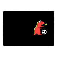 Black Cartoon Dinosaur Soccer Samsung Galaxy Tab Pro 10 1  Flip Case