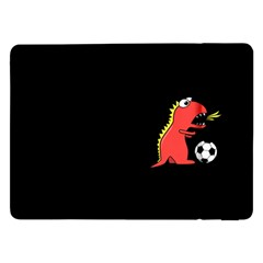Black Cartoon Dinosaur Soccer Samsung Galaxy Tab Pro 12 2  Flip Case