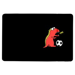 Black Cartoon Dinosaur Soccer Apple iPad Air Flip Case