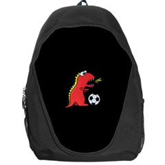 Black Cartoon Dinosaur Soccer Backpack Bag