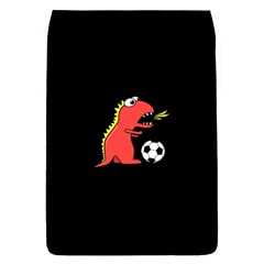 Black Cartoon Dinosaur Soccer Removable Flap Cover (Large)