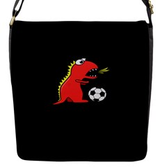 Black Cartoon Dinosaur Soccer Removable Flap Cover (small)