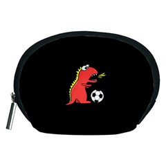 Black Cartoon Dinosaur Soccer Accessory Pouch (medium)