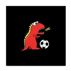 Black Cartoon Dinosaur Soccer Face Towel