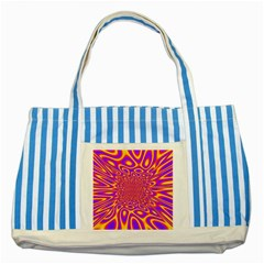 Psycedelic Warp Blue Striped Tote Bag