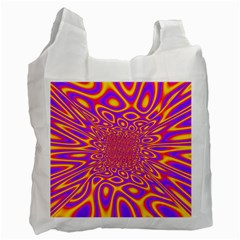 Psycedelic Warp White Reusable Bag (two Sides)